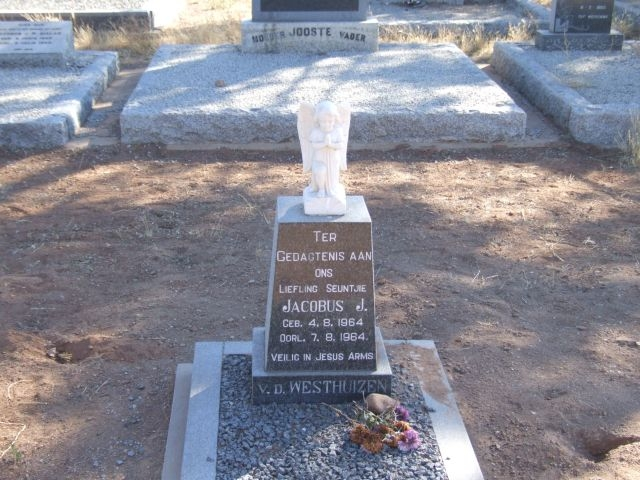 Van der Westhuizen, Jacobus J born 04 August 1964 died 08 August 1964