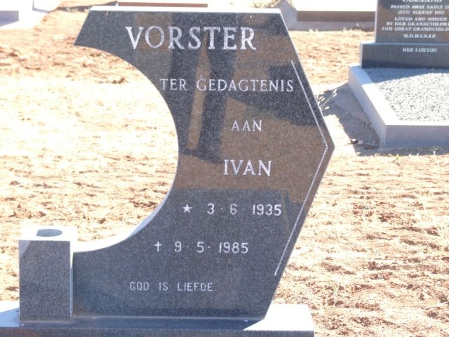 Vorster, Ivan born 03 July 1935 died 09 May 1985