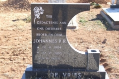 De Vries, Johannes born 19 April 1904 died 22 July 1985