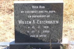 Esterhuizen, Willem born 21 February 1931 died 27 July 2003