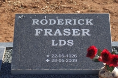 Fraser, Roderick born 22 May 1926 died 28 May 2009