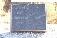 Grove, Gesina Christina nee Theron born 18 July 1886 died 07 August 1972