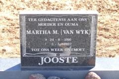 Jooste, Martha nee Van Wyk born 24 August 1916 died 05 May 1997