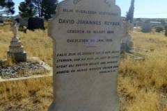 Keyser, David Johannes born 26 March 1858 died 26 January 1919