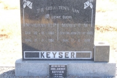 Keyser, Nicolaas born 20 October 1866 died 21 February 1956 + Maria nee Viljoen born 20 November 1869 died 17 June 1970