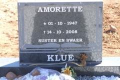Klue, Amorette born 01 October 1947 died 14 October 2008