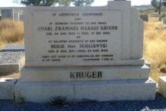 Kruger, Charl Francois Marais born 24 August 1858 died 19 May 1942 + Heilie nee Van Schalkwyk born 08 August 1871 died 24 August 1948