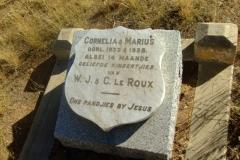 Le Roux, Cornelia + Marius children of WJ + C died 1933 + 1938 both 14 months old
