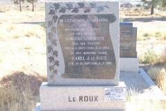 Le Roux, Johanna C nee Van Staden born 12 February 1883 died 17 April 1964 + Carel J born 20 October 1877 died 96 July 1970