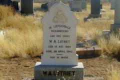 Lotriet. WA born 18 August 1864 died 26 April 1942