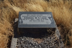Louw, Andries WS born 19 July 1867 died 12 August 1951