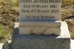 Malan, Daniel Jacob born 14 March 1861 died 25 March 1933