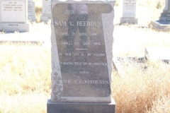 Van Heerden, Sam born 02 August 1890 died 22 December 1951