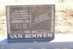 Van Rooyen, Lodewikus born 26 August 1924 died 26 April 1997