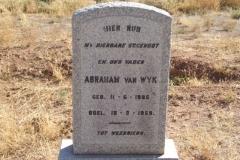 Van Wyk, Abraham born 11 May 1895 died 16 March 1959