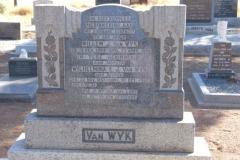 Van Wyk, Willem J born 15 February 1884 died 23 APRIL 1950 + Wilhelmina nee Beukes born 22 November 1887 died 30 December 1960