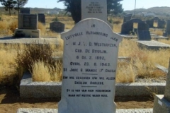 Van der Westhuizen, Louie nee de Bruijn born 06 February 1892 died 23 August 1943