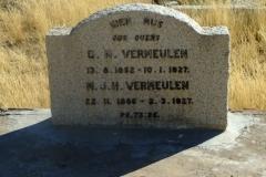 Vermuelen, GN born 13 August 1852 died 10 January 1927 + MJH born 22 November 1866 died 02 March 1927