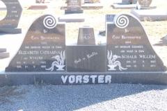 Vorster, Elizabeth Catharina nee Wykerd born 12 June 1903 died 27 May 1982 + Shcalk Willem born 20 September 1897 died 18 May 1977