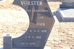 Vorster, Ivan born 03 July 1935 died 09 May 1985