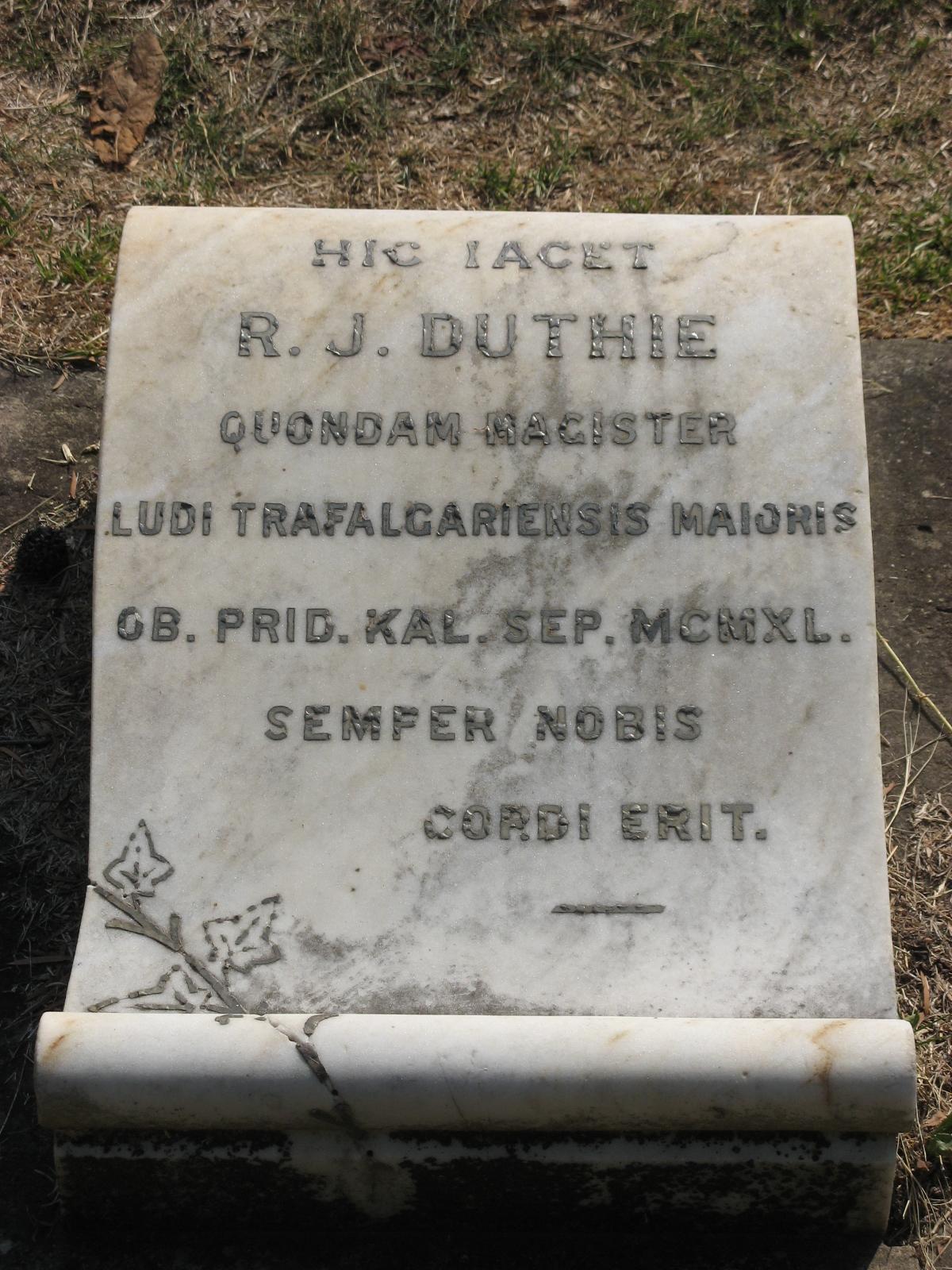Duthie, R. J.