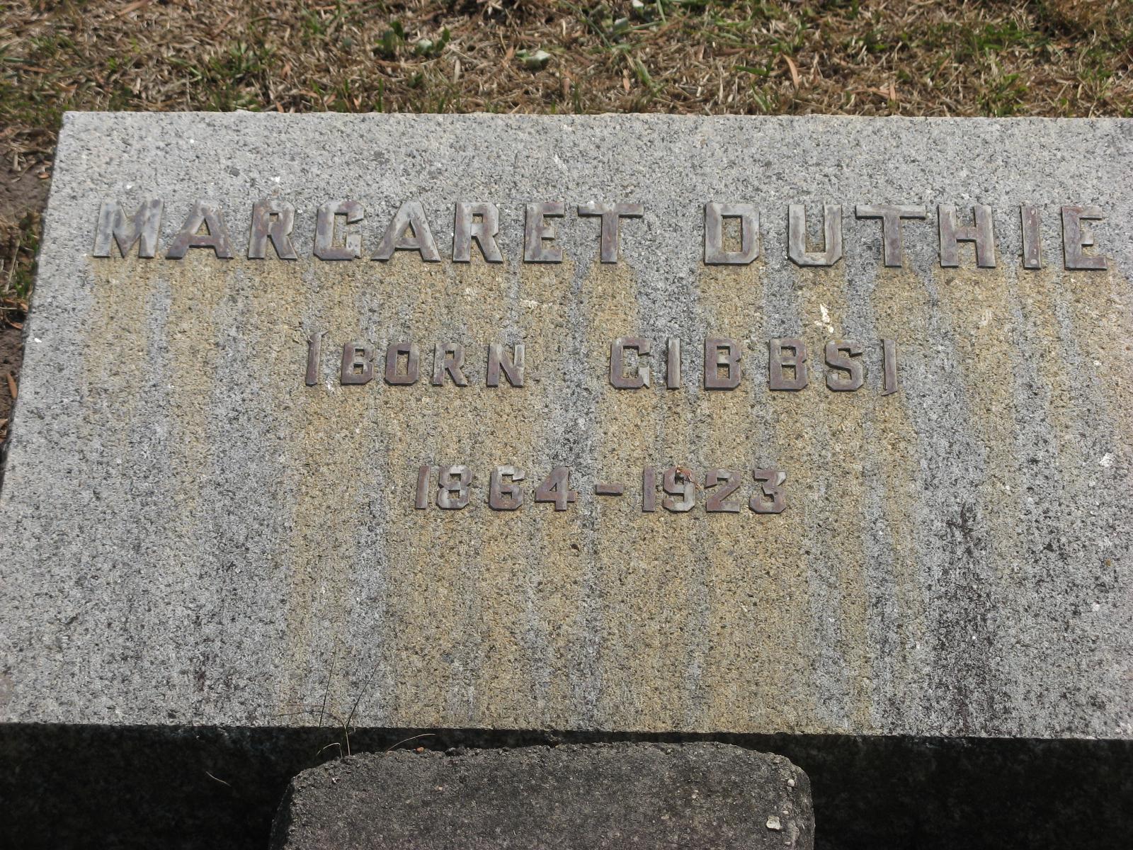 Duthie, Margaret