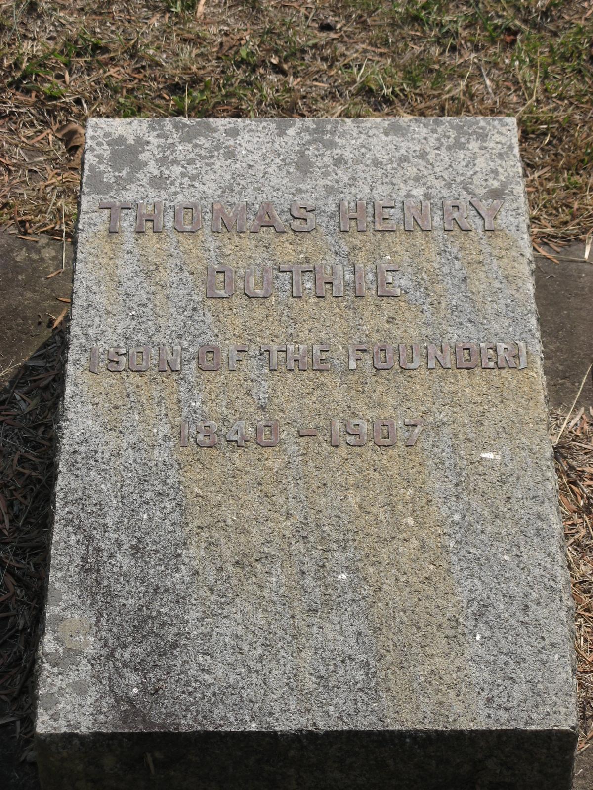Duthie, Thomas Henry