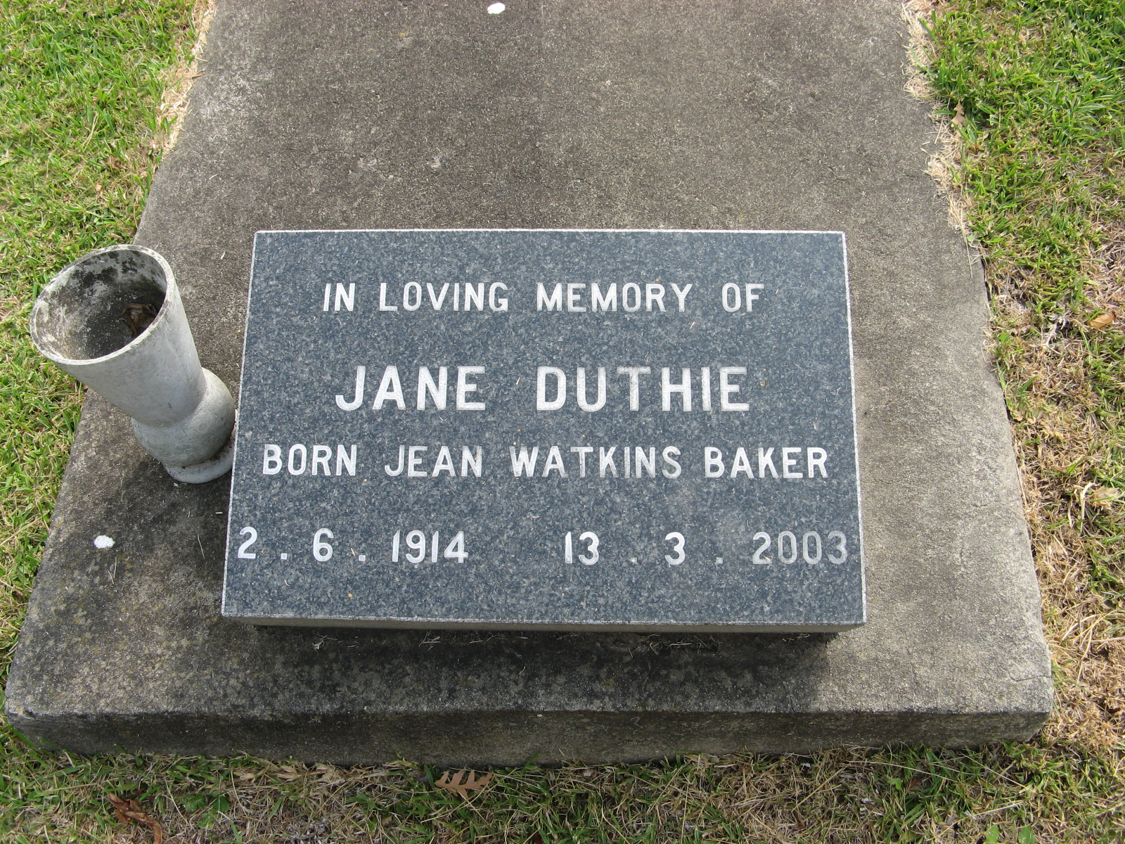 Duthie, Jane