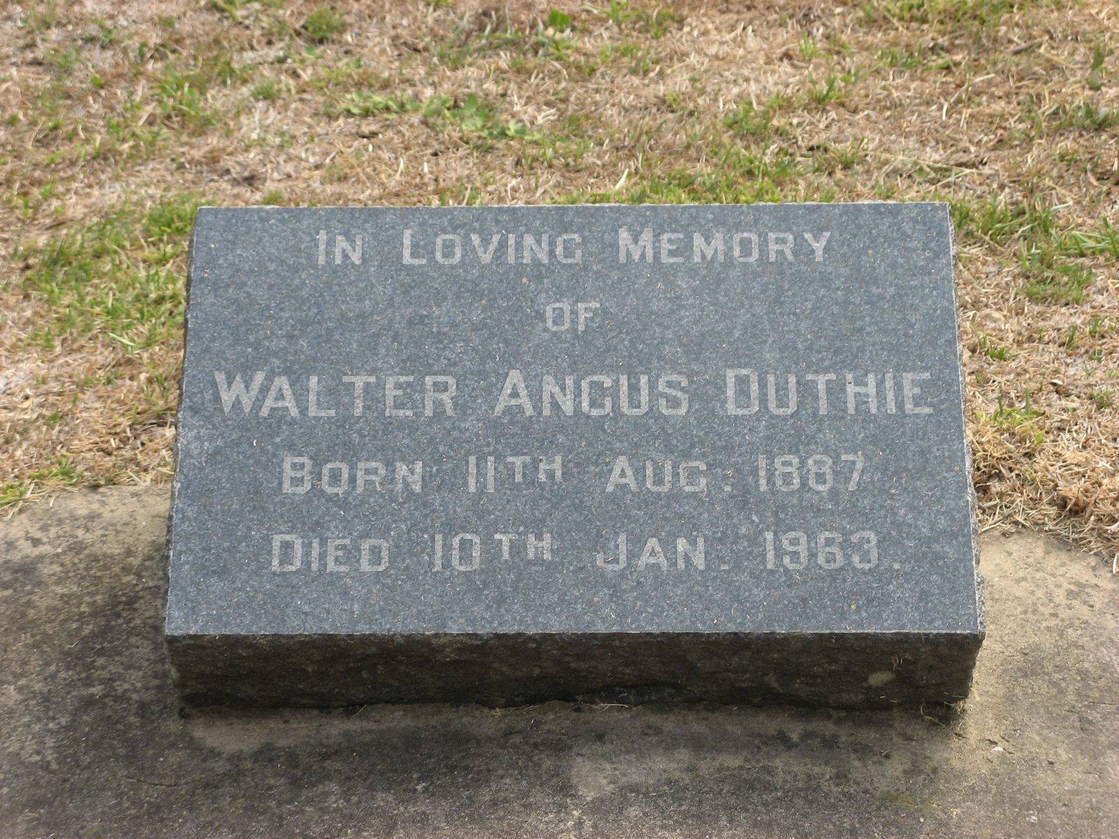 Duthie, Walter Angus