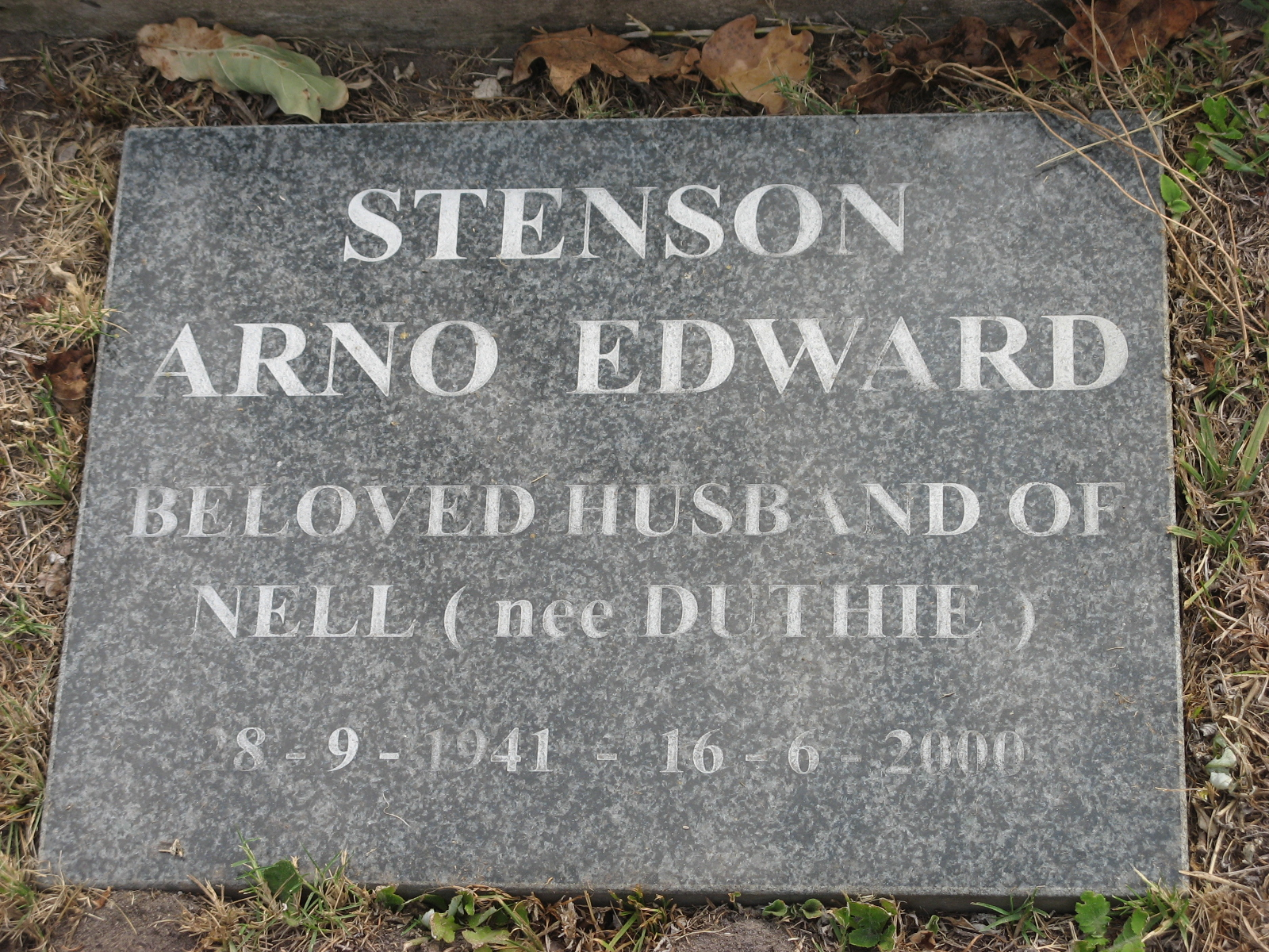 Stenson, Arno Edward