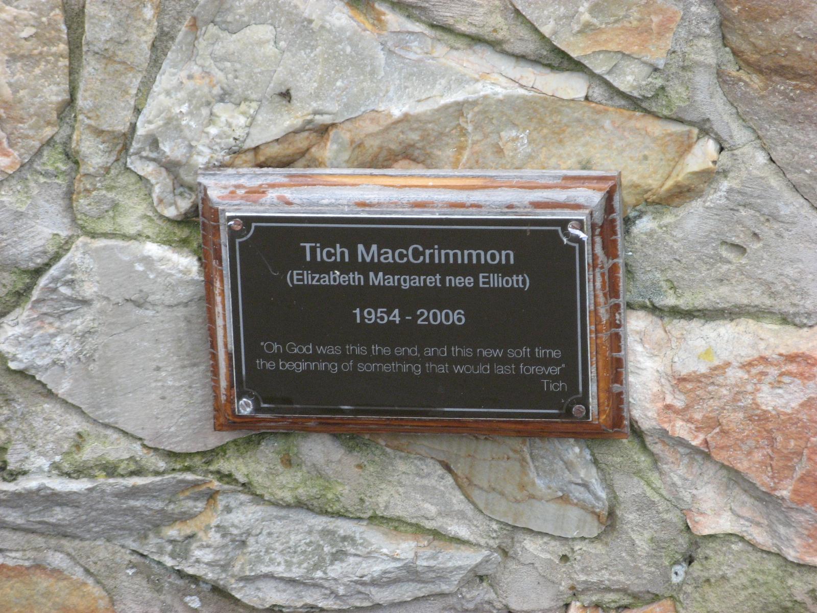 MacCrimmon, Elizabeth Margaret (Tich)