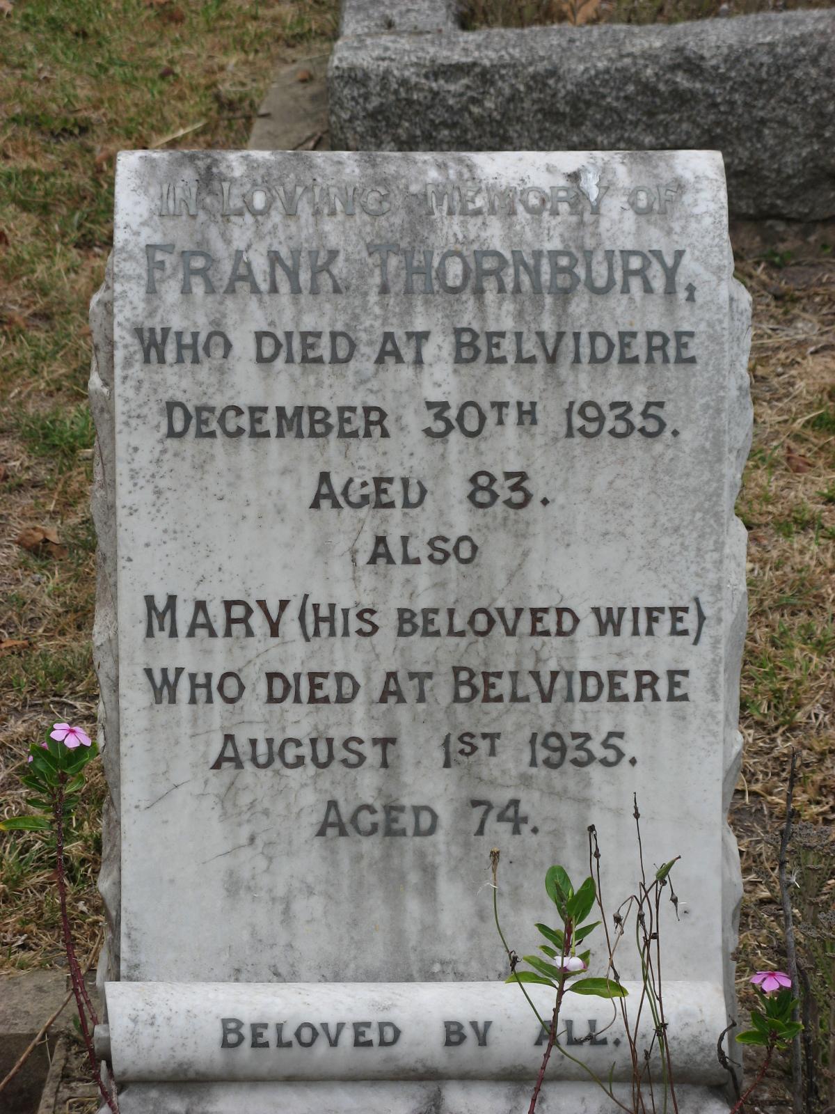 Thornbury, Frank + Thornbury, Mary