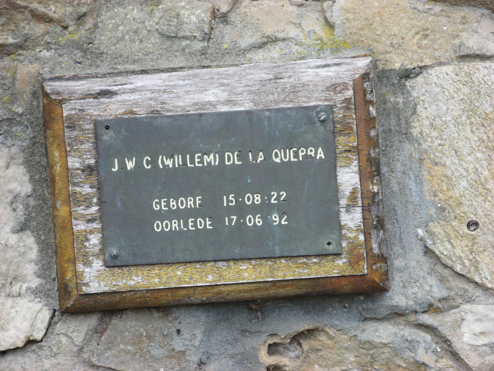 De La Querra, J. W. C. (Willem)