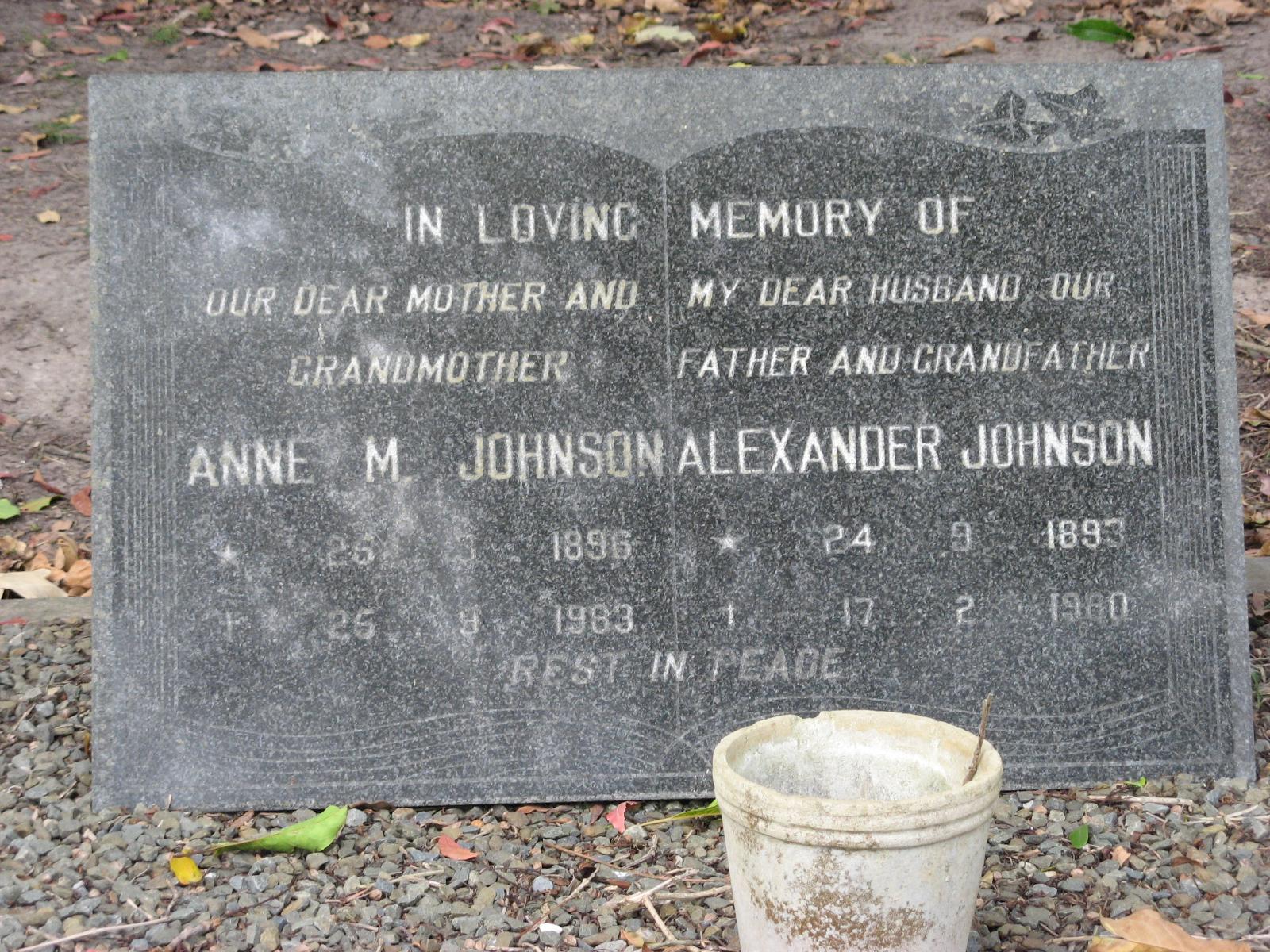 Johnson, Anne M. + Johnson, Alexander