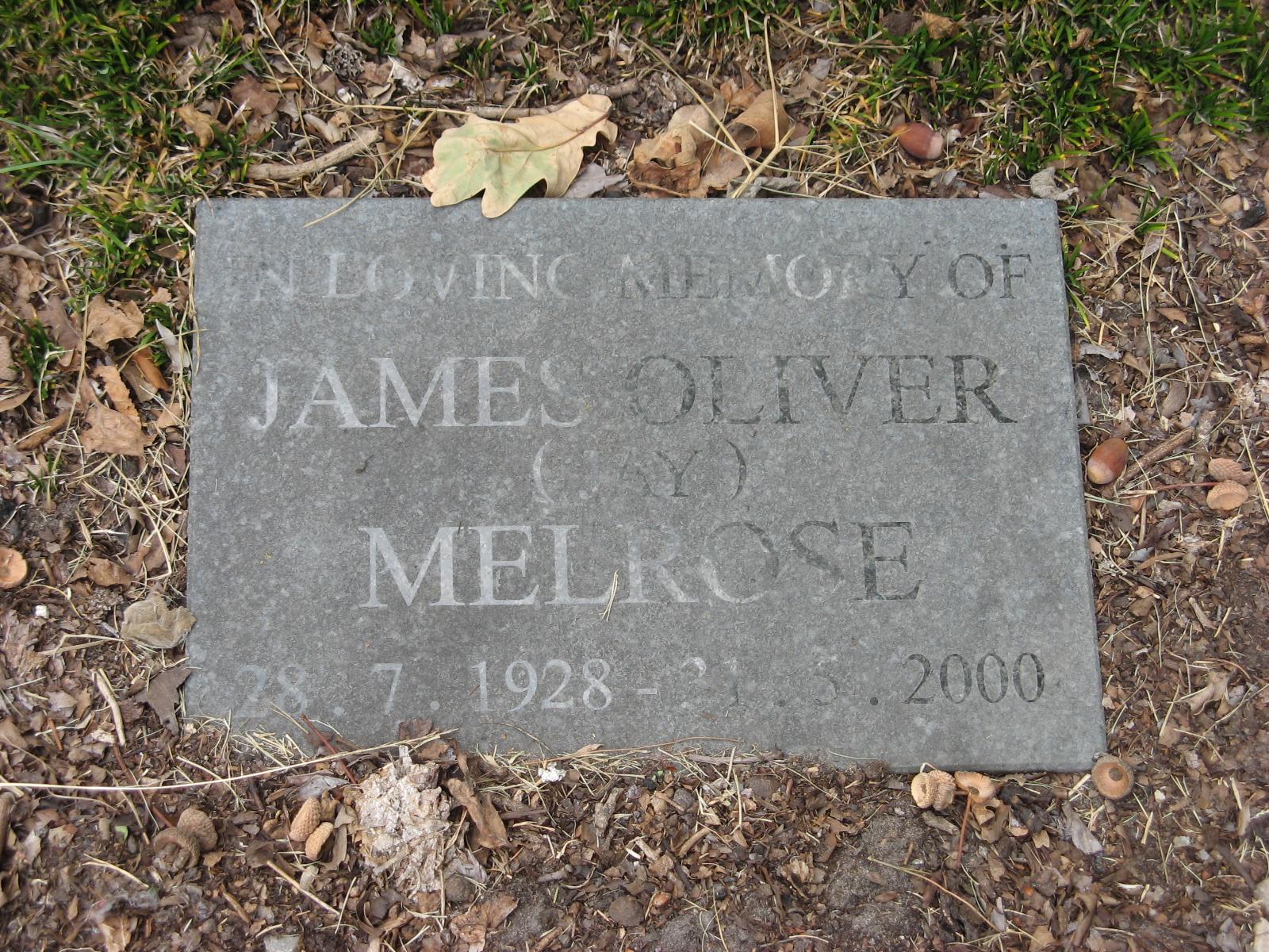 Melrose, James Oliver (Jay)