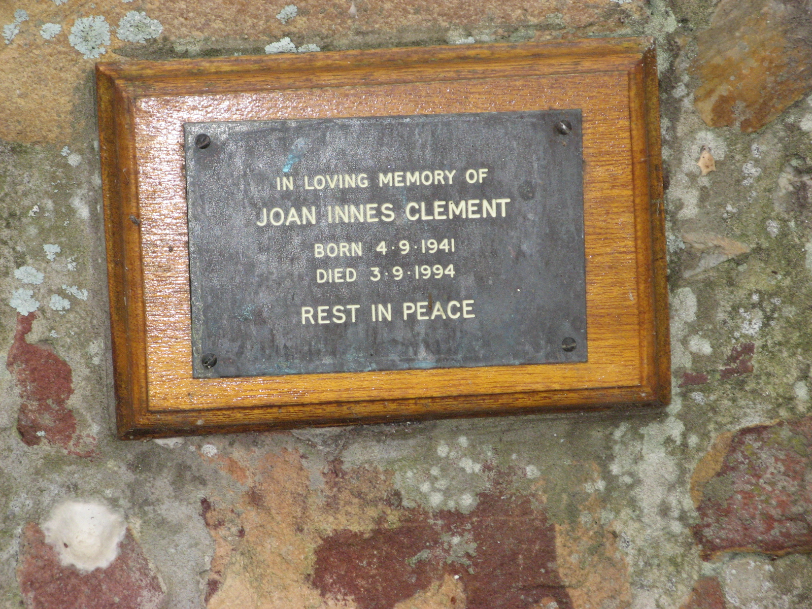 Clement, Joan Innes