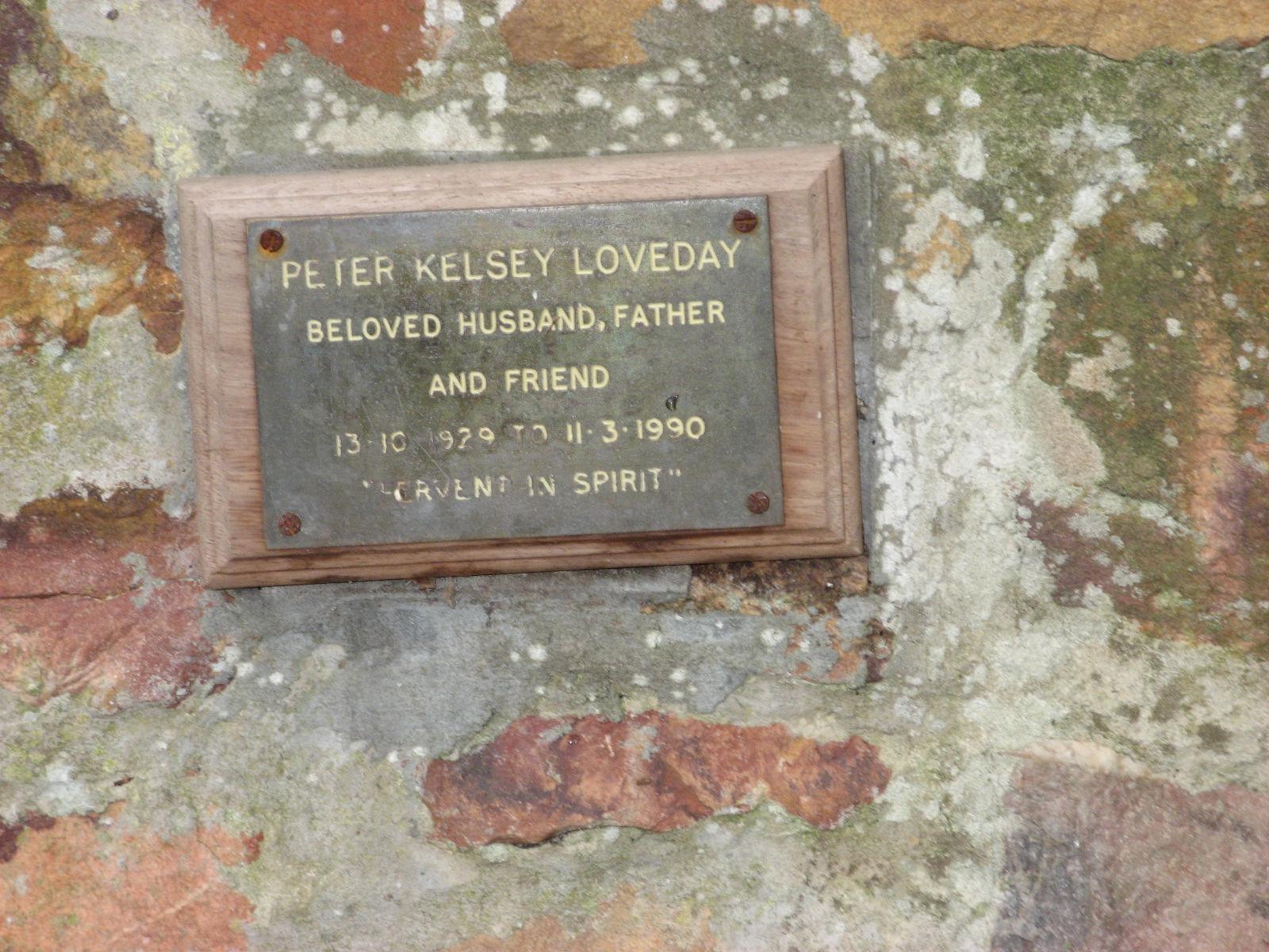 Loveday, Peter Kelsey
