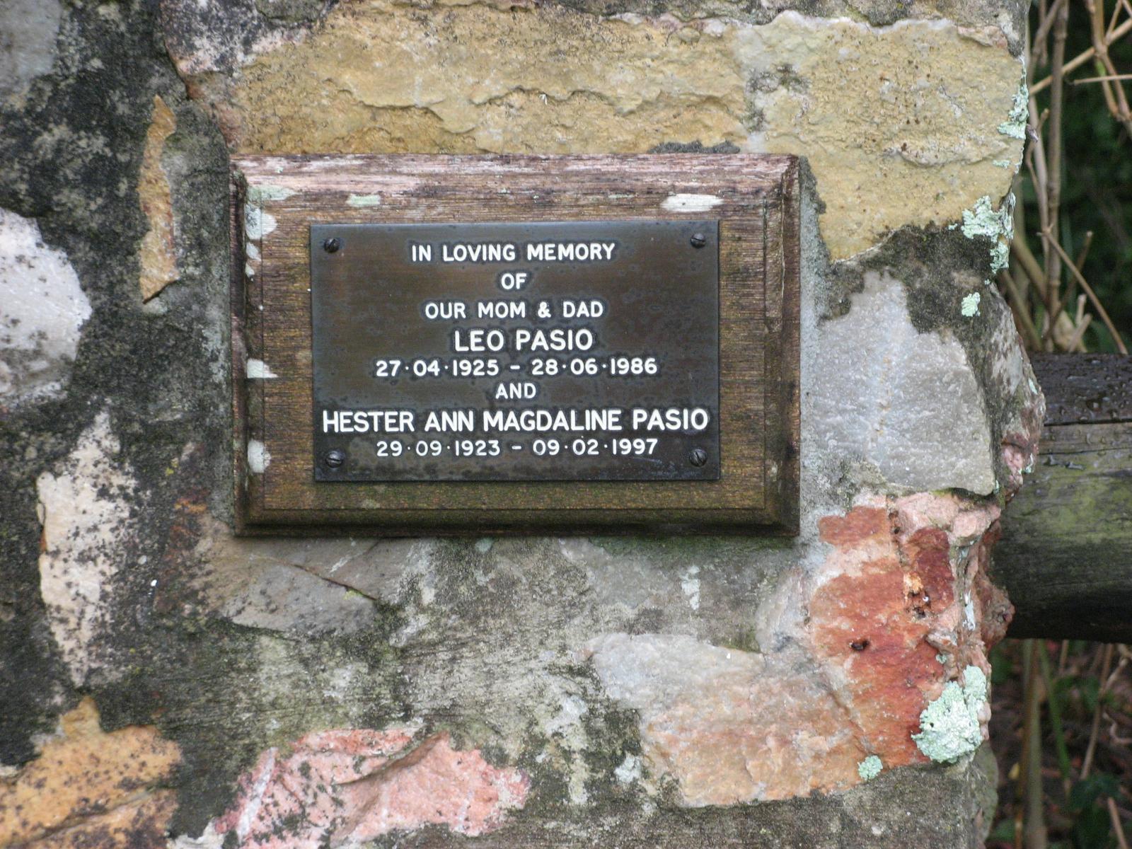 Pasio, Leo + Pasio, Hester Ann Magdaline