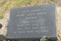 Duthie, Mary Lucy Gavin