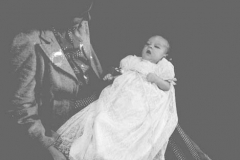 Unknown woman and baby