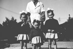 Unknown man and children