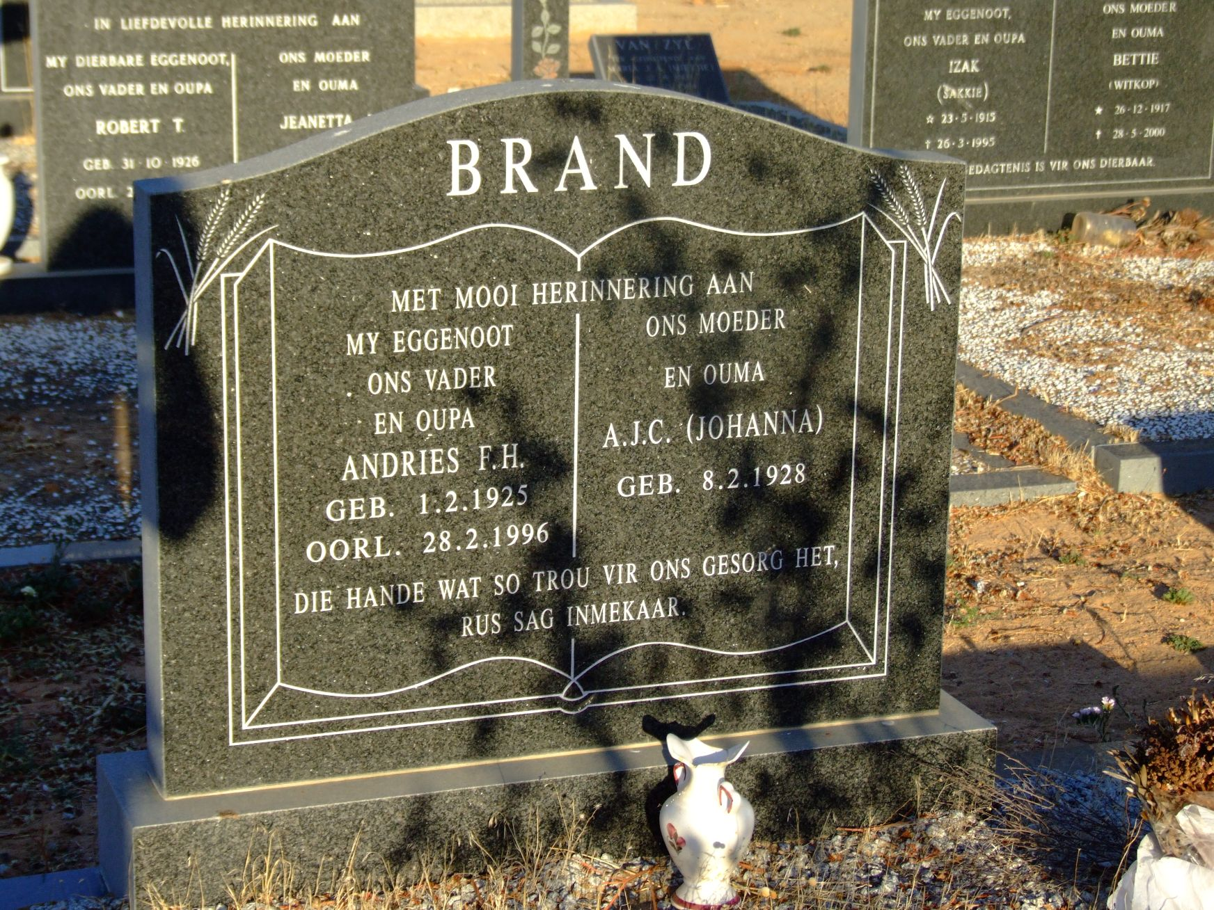 Brand, Andries F. H. + Brand, A. J. C.