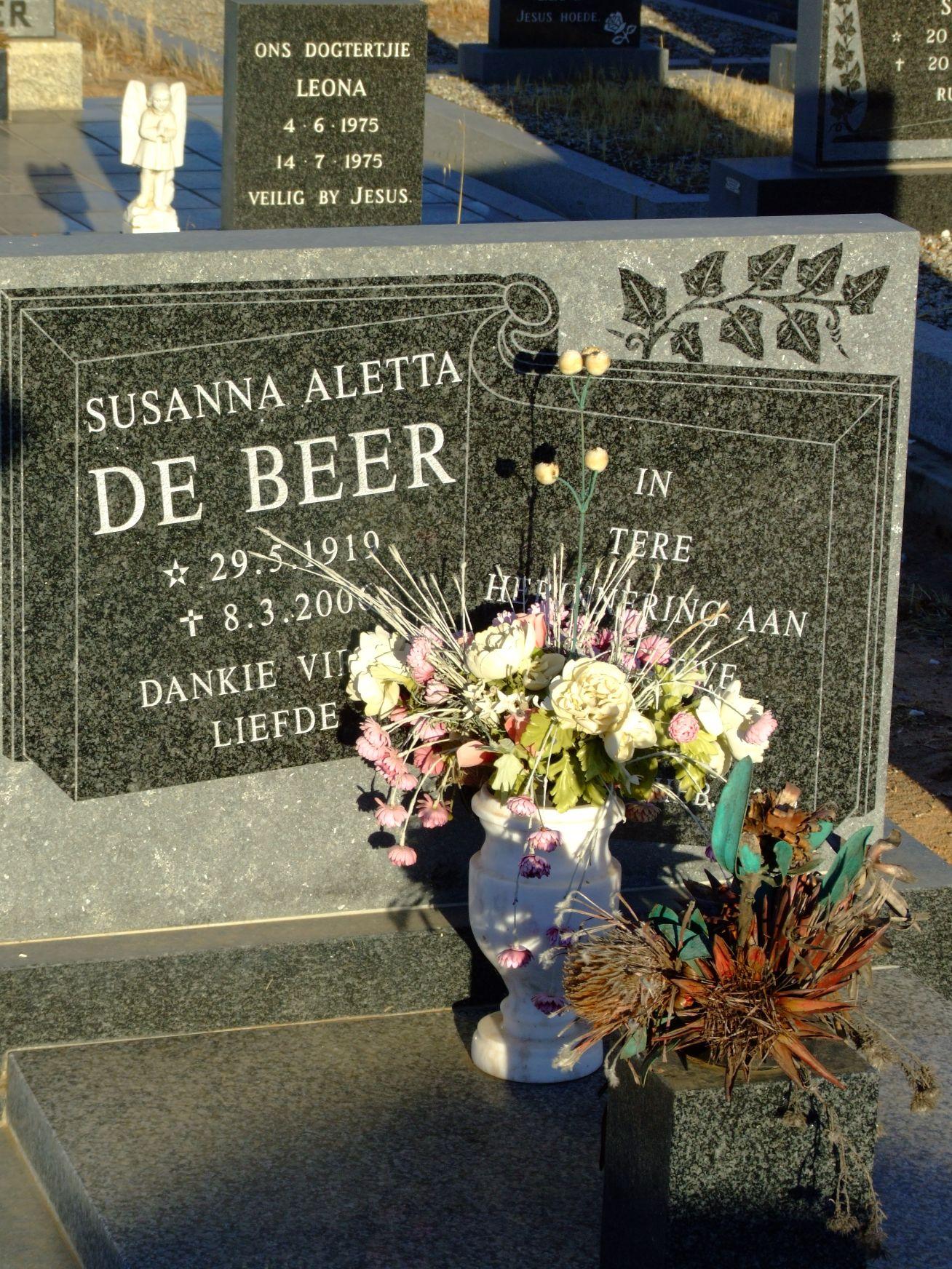 De Beer, Susanna Aletta