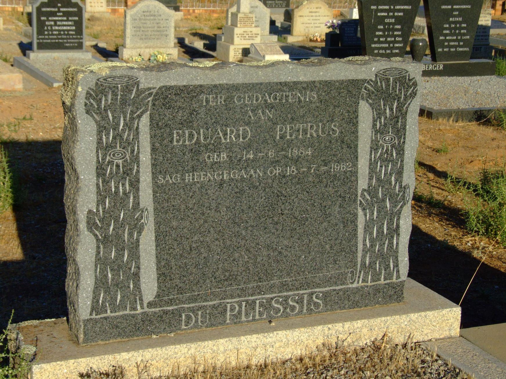 Du Plessis, Eduard Petrus