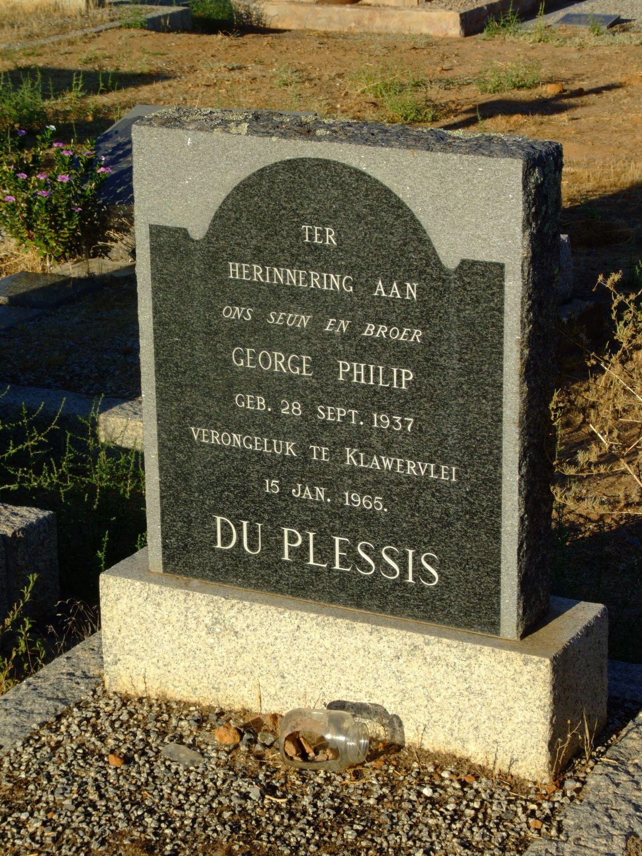 Du Plessis, George Philip