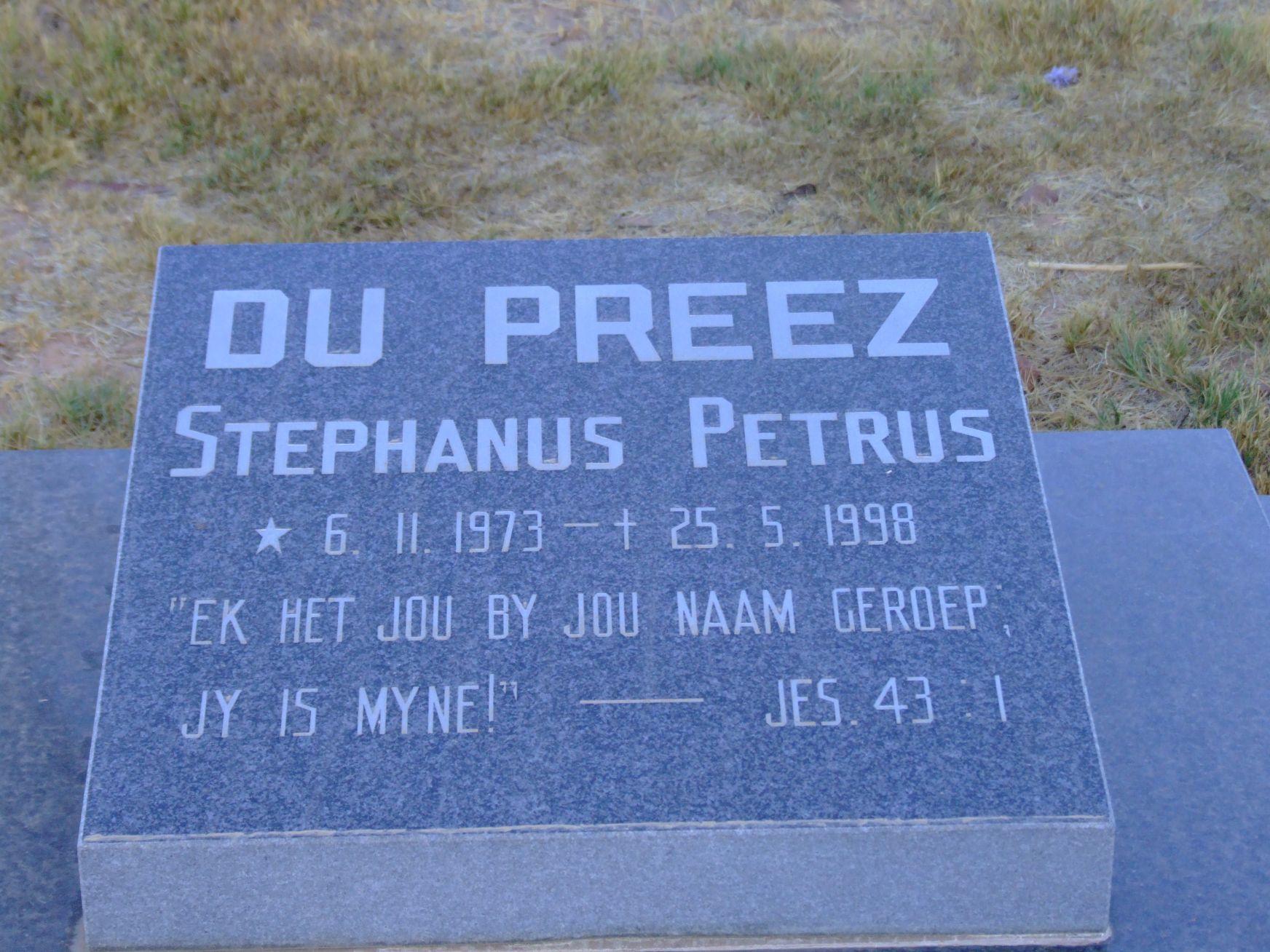 Du Preez ,Stephanus Petrus