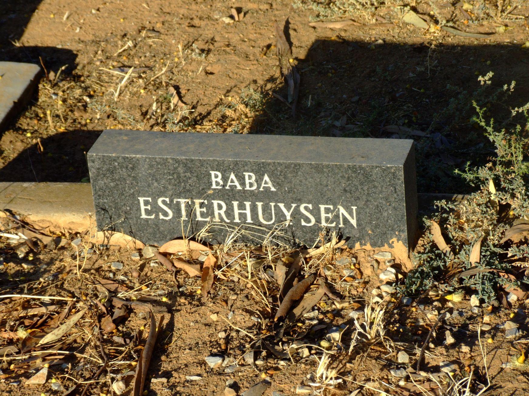 Esterhuysen, Baba