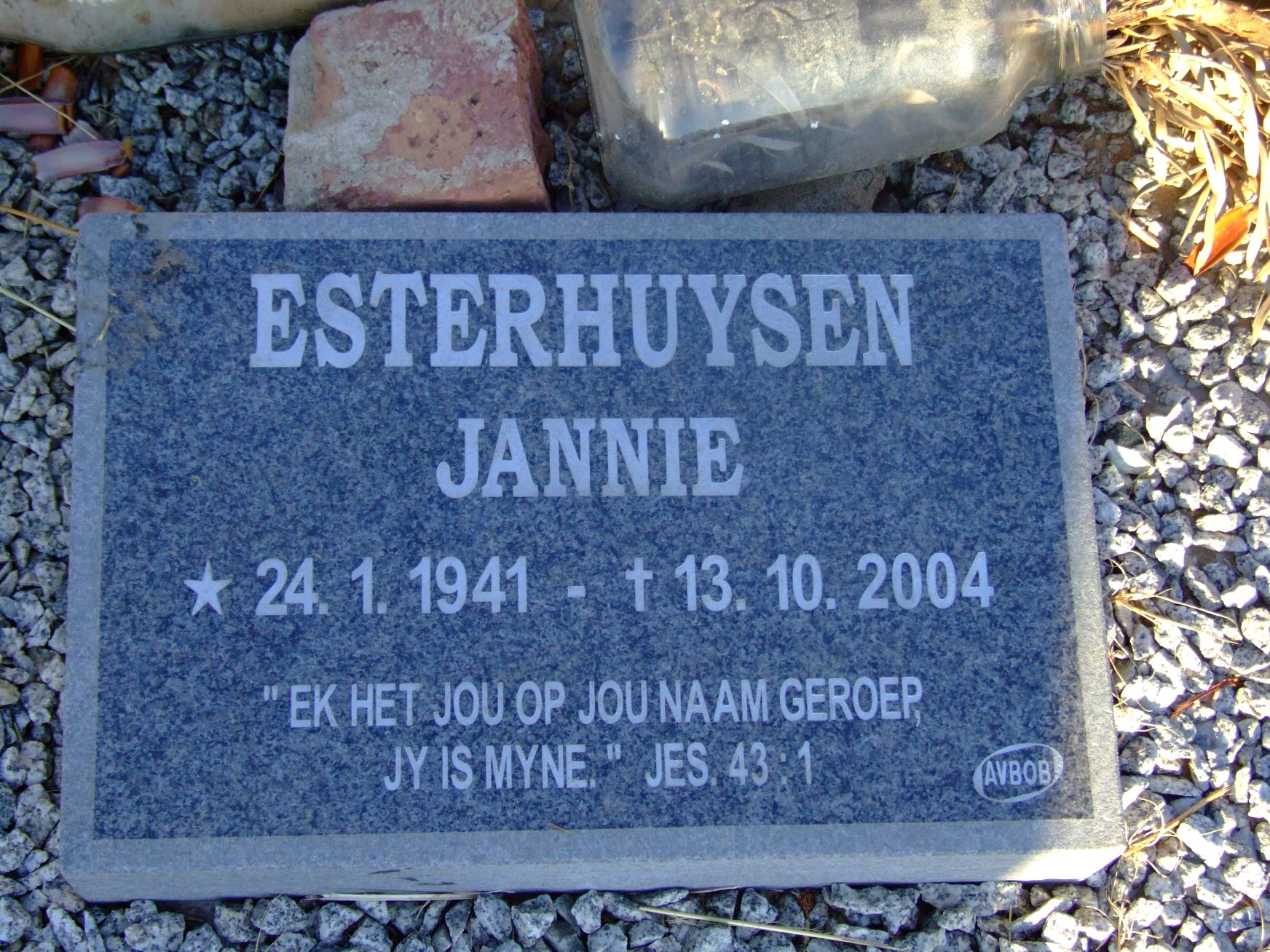 Esterhuysen, Jannie