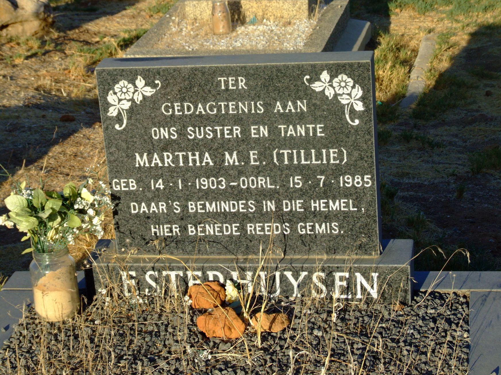 Esterhuysen, Martha M. E. (nee Tillie)