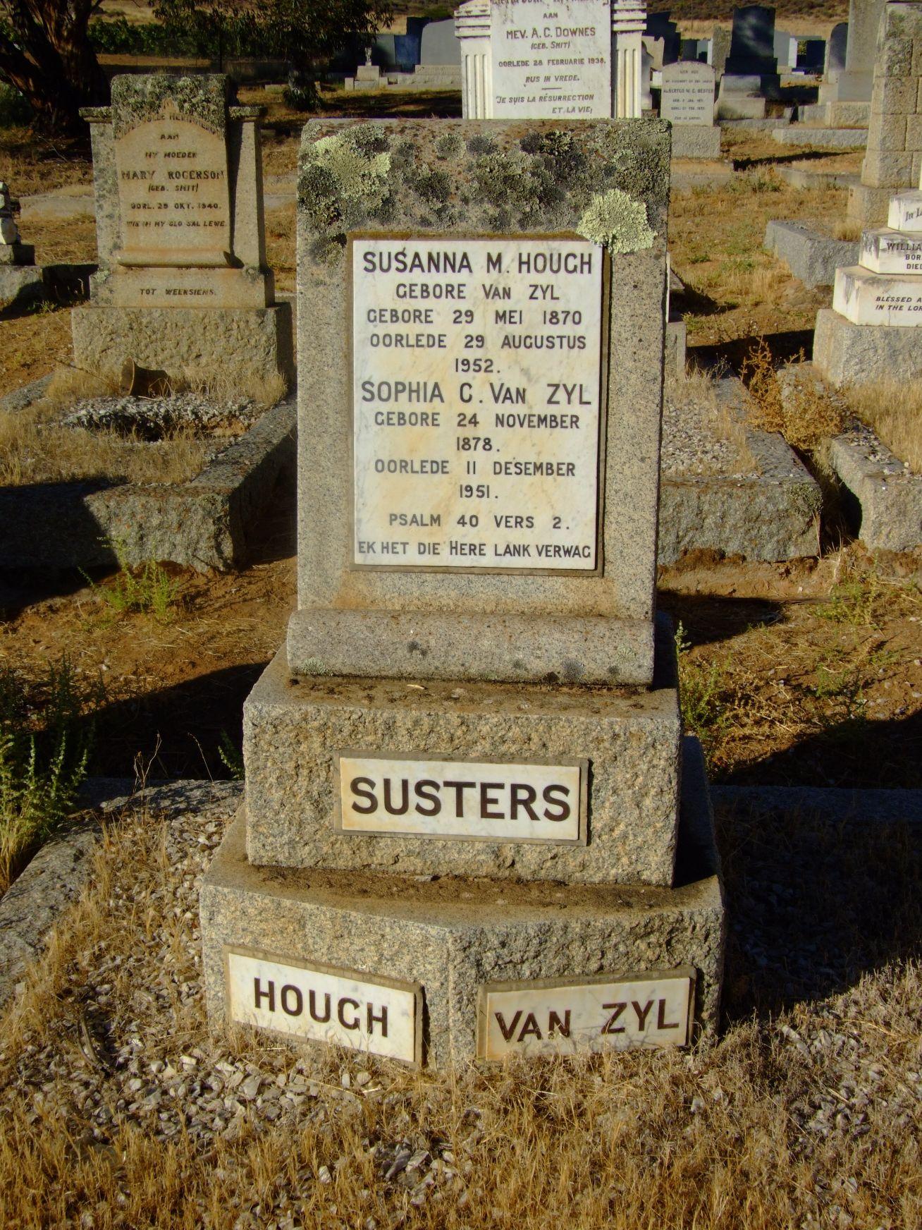 Hough, Susanna M. + Van Zyl, Sophia C.